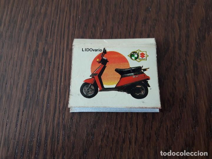 CAJA DE CERILLAS DE PUBLICIDAD PUCH SUZUKI, LIDOVARIO, MAXI MOTOS AÑO 1985 (Coleccionismo - Objetos para Fumar - Cajas de Cerillas)