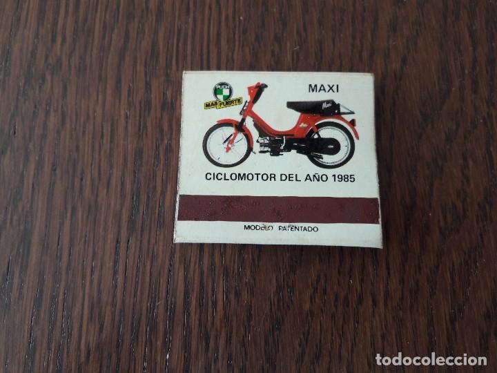 Cajas de Cerillas: caja de cerillas de publicidad Puch Suzuki, Lidovario, Maxi motos año 1985 - Foto 2 - 140819326