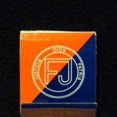 Cajas de Cerillas: CARTERA CERILLAS FUERZA NUEVA, AL SERVICIO DE ESPAÑA. JUSTICIA-DIOS-PATRIA. AÑOS 1977. Lote 143283622