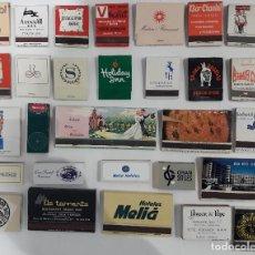 Cajas de Cerillas: LOTE 29 CAJAS DE CERILLAS CARTERITAS HOTEL BAR RESTAURANTE. Lote 143676170
