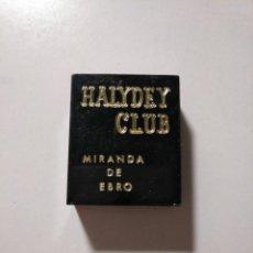 Cajas de Cerillas: CAJA DE CERILLAS HALIDEY CLUB MIRANDA DE EBRO. TDKP13. Lote 144583150