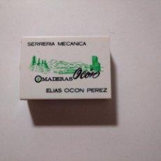 Cajas de Cerillas: CAJA DE CERILLAS SERRERÍA MECÁNICA MADERAS OCÓN ELÍAS. LOGROÑO. TDKP13. Lote 144585354