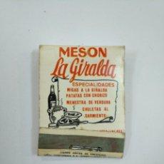 Cajas de Cerillas: CAJA DE CERILLAS MESÓN LA GIRALDA OYON ÁLAVA. TDKP12. Lote 144589810