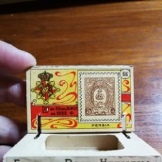 Cajas de Cerillas: CAJA DE CERILLAS DEL GREMIO DE FABRICANTES ( 100 AÑOS, APROX ) - SELLOS NÚMERO 66 ( PERSIA / IRAN ). Lote 36749750
