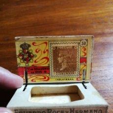 Cajas de Cerillas: CAJA DE CERILLAS DEL GREMIO DE FABRICANTES ( 100 AÑOS, APROX ) - SELLOS NÚMERO 59 ( INGLATERRA ). Lote 33052500