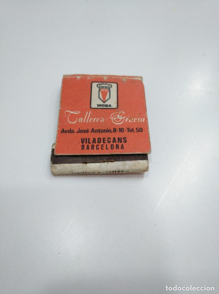 Cajas de Cerillas: CAJA DE CERILLAS TALLERES GRACIA VILADECANS BARCELONA. TDKP13 - Foto 2 - 144916634
