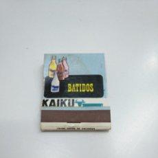 Cajas de Cerillas: CAJA DE CERILLAS BATIDOS Y YOGURES KAIKU. TDKP13. Lote 144916706