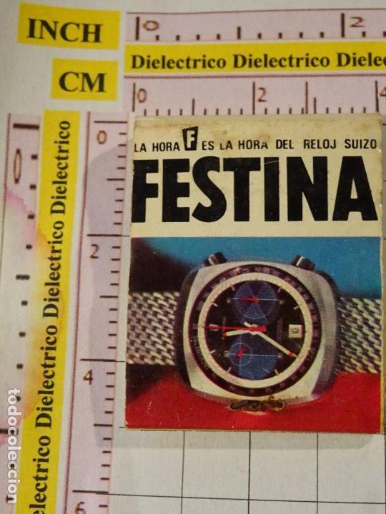 CAJA CAJETILLA DE CERILLAS. RELOJES SUIZOS FESTINA. SITGES, BARCELONA (Coleccionismo - Objetos para Fumar - Cajas de Cerillas)