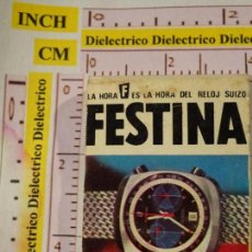 Cajas de Cerillas: CAJA CAJETILLA DE CERILLAS. RELOJES SUIZOS FESTINA. SITGES, BARCELONA. Lote 145767290