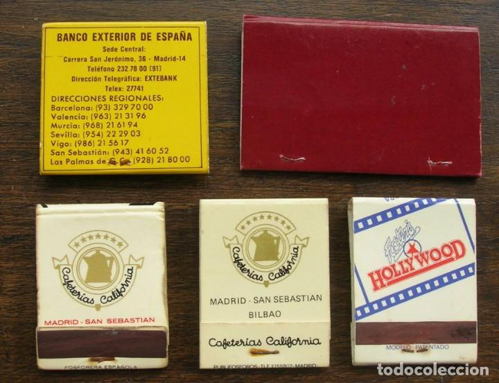 Cajas de Cerillas: CARTERAS CERILLAS: BANCO EXTERIOR ESPAÑA, WINSTON, L&M, HOLLYWOOD Y ACADEMIA DE LA RIVA - Foto 2 - 146279982