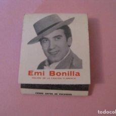 Cajas de Cerillas: CARTERITA DE CERILLAS. TABLAO EL FLAMENCO. DIRECCIÓN EMI BONILLA. MALAGA.. Lote 146739210