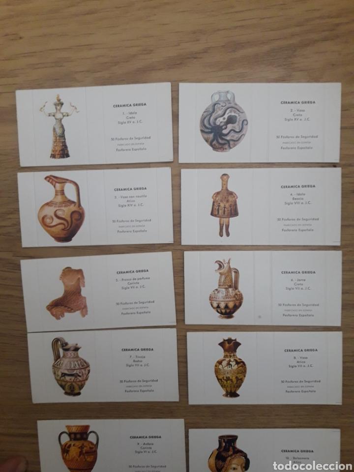 Cajas de Cerillas: COLECCION COMPLETA CARTERITA CERILLAS - CERAMICA GRIEGA. PERFECTA!! - Foto 3 - 146748742