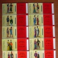 Cajas de Cerillas: HISTORIA DEL VESTIDO - FOSFORERA ESPAÑOLA 1961 - COMPLETA, 40 CAJAS CERILLAS - VER FOTOS ADICIONALES. Lote 146991194