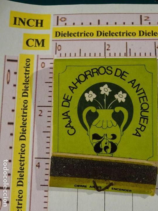 CAJA CAJETILLA DE CERILLAS. BANCOS. 75 ANIVERSARIO DE LA CAJA DE AHORROS DE ANTEQUERA (Coleccionismo - Objetos para Fumar - Cajas de Cerillas)