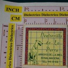 Cajas de Cerillas: CAJA CAJETILLA DE CERILLAS. VENTORRILLO LA PERRA DE ARROYO DE LA MIEL, BENALMÁDENA. MÁLAGA. Lote 147100990