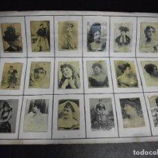 Cajas de Cerillas: SIGLO XIX 103 HOJAS CON 1739 CAJAS DE CERILLAS FOTOTIPIAS DE ARTISTAS ACTRICES ESPECTACULOS TEATRO. Lote 147360610
