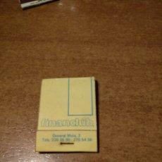 Cajas de Cerillas: CAJITA CARTERITA DE CERILLAS FINANCLUB INMOBILIARIA MADRID. Lote 147656961