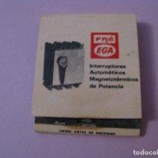 Cajas de Cerillas: CARTERITA DE CERILLAS. FPE EGA. ENRIQUE GARRELL ALSINA. GRANOLLERS.. Lote 147707190
