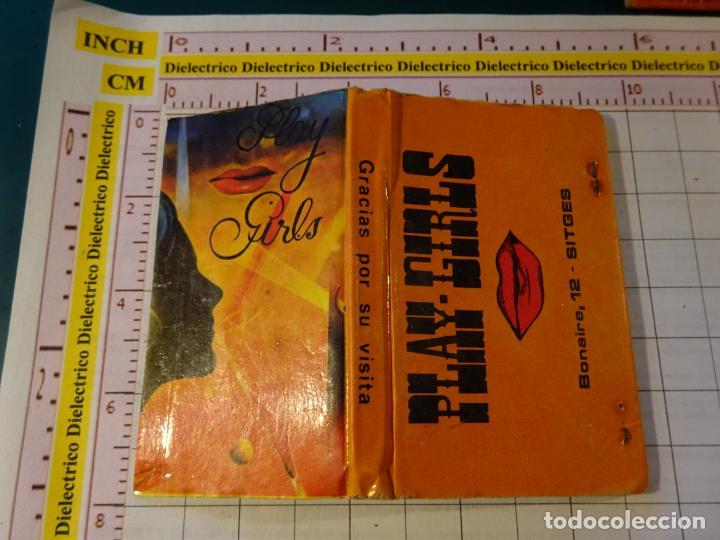 CAJA CAJETILLA DE CERILLAS. DISCOTECAS CLUBES PUBS. CLUB PLAY GIRLS SITGES, BARCELONA (Coleccionismo - Objetos para Fumar - Cajas de Cerillas)