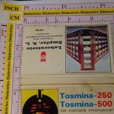 Matchboxes - CAJA CAJETILLA DE CERILLAS. MEDICINAS MEDICAMENTOS. TOSMINA - 147783738