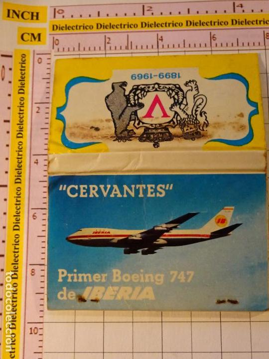CAJA CAJETILLA DE CERILLAS. AVIONES AEROLÍNEAS. IBERIA BOEING 747 CERVANTES (Coleccionismo - Objetos para Fumar - Cajas de Cerillas)