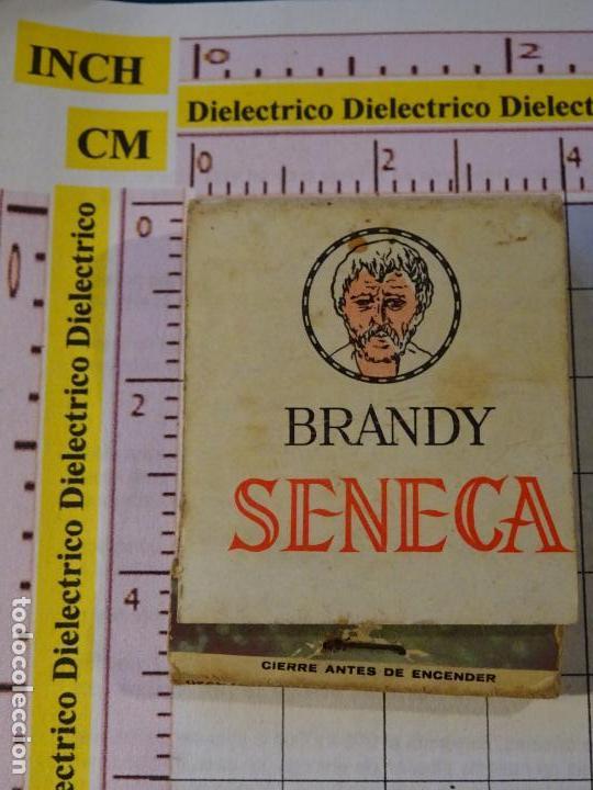 CAJA CAJETILLA DE CERILLAS. BEBIDAS. BRANDY SENECA (Coleccionismo - Objetos para Fumar - Cajas de Cerillas)