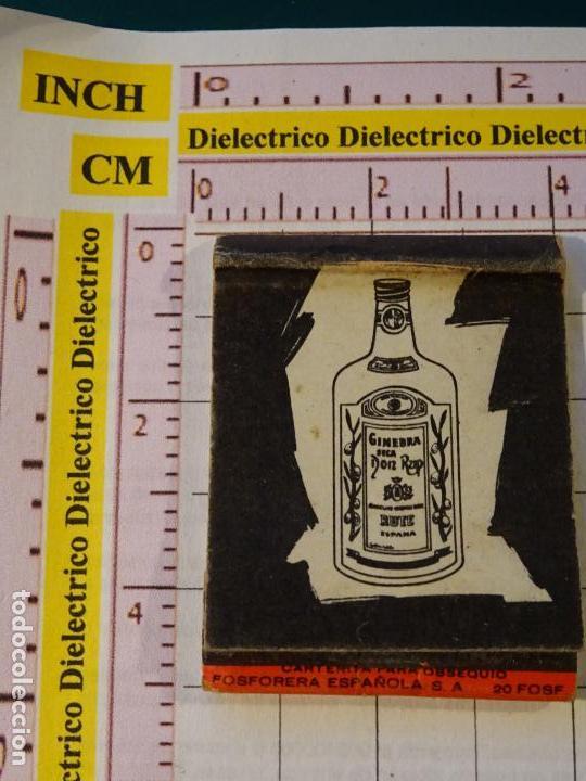 CAJA CAJETILLA DE CERILLAS. BEBIDAS. GINEBRA SECA DON RUP, RUTE CÓRDOBA (Sammelleidenschaft Objekte - Objekte zum Rauchen - Streichholzschachteln)