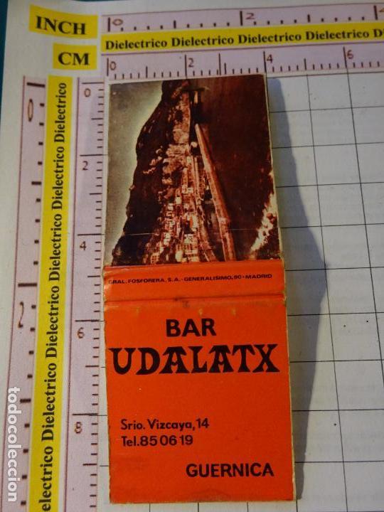 CAJA CAJETILLA DE CERILLAS. BAR UDALATX, GUERNICA, VIZCAYA (Coleccionismo - Objetos para Fumar - Cajas de Cerillas)