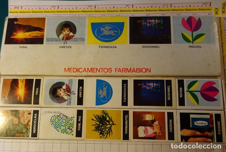 SET DE 10 CAJAS CAJETILLAS DE CERILLAS. MEDICINAS MEDICAMENTOS FARMABION (Coleccionismo - Objetos para Fumar - Cajas de Cerillas)
