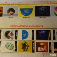 Cajas de Cerillas: SET DE 10 CAJAS CAJETILLAS DE CERILLAS. MEDICINAS MEDICAMENTOS FARMABION. Lote 147785522