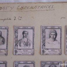 Cajas de Cerillas: FRONTAL CAJA DE CERILLAS COLECCION REINAS Y EMPERATRICES COMPLETA 1901. Lote 147983946
