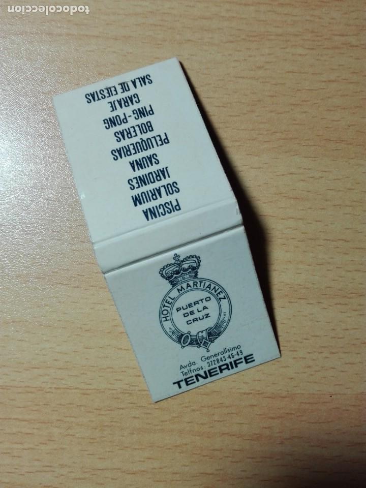 CAJA CERILLAS - HOTEL MARTIANEZ - PUERTO DE LA CRUZ - TENERIFE CANARIAS (Coleccionismo - Objetos para Fumar - Cajas de Cerillas)