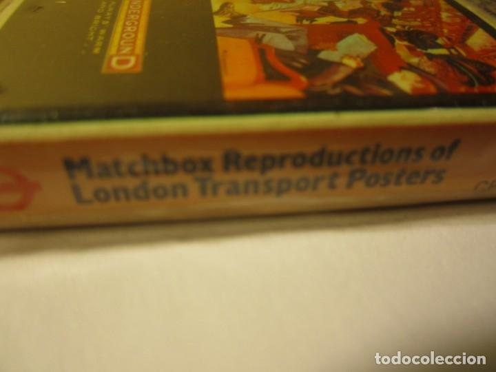 Cajas de Cerillas: lote 6 cajas de cerillas matchbox reproductions of london transport posters - Foto 3 - 148684034