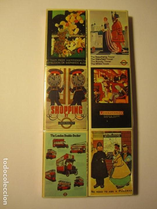 Cajas de Cerillas: lote 6 cajas de cerillas matchbox reproductions of london transport posters - Foto 1 - 148684034
