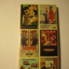 Cajas de Cerillas: LOTE 6 CAJAS DE CERILLAS MATCHBOX REPRODUCTIONS OF LONDON TRANSPORT POSTERS. Lote 148684034