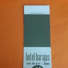 Cajas de Cerillas: CARTERITA CERILLAS - HOTEL BARAJAS (MADRID). Lote 149143226