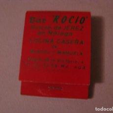 Cajas de Cerillas: CERILLAS BAR ROCÍO. MÁLAGA. USADA.. Lote 150494574