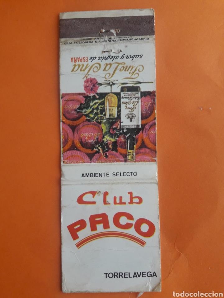 07abfac6dc4e9 Carterita cerillas - club paco (torrelavega) - fino la ina - España -  Carterita