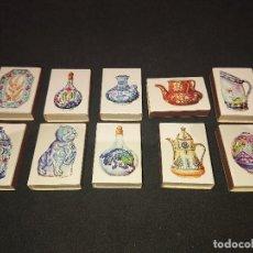 Cajas de Cerillas: 10 CAJAS DE CERILLAS CERAMICA PERSA , DESCRIPCION DEBAJO.. Lote 151334454