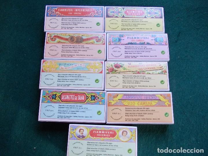 Cajas de Cerillas: Lote 9 cajas de cerillas fosforos reprodución etiqueta siglo XIX bien conservadas - Foto 2 - 151352806