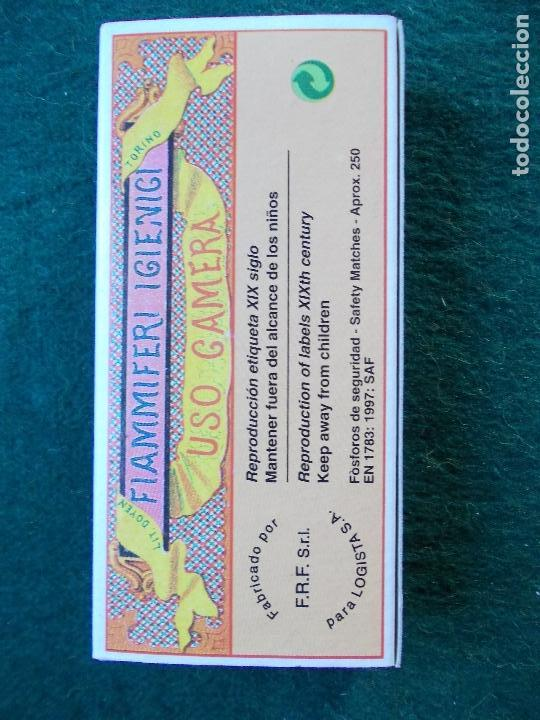 Cajas de Cerillas: caja de cerillas fosforos reprodución etiqueta siglo XIX bien conservada - Foto 2 - 151354678