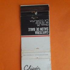 Cajas de Cerillas: CARTERITA CERILLAS - CHIPEN CLUB. Lote 151439821