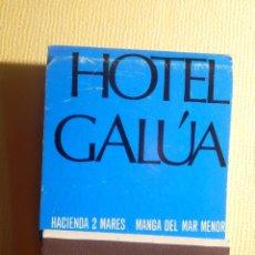 Cajas de Cerillas: CAJA DE CERILLAS - HOTEL GALUA - HACIENDA 2 MARES - MANGA DEL MAR MENOR - COMPLETA. Lote 151463646