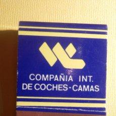 Cajas de Cerillas: CAJA DE CERILLAS - COMPAÑÍA INT. DE COCHES-CAMAS - COMPLETA. Lote 151463690