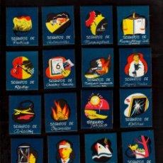 Cajas de Cerillas: PRECIOSA COLECCION DE 17 CAJAS DE CERILLAS DISTINTAS DE SEGUROS PLUS ULTRA NUEVAS DE LOS AÑOS 1960 . Lote 152614682