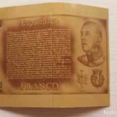 Cajas de Cerillas: CERILLAS, CARPETILLA FRANCISCO FRANCO, 7,50 CM DE LARGO. Lote 152626926