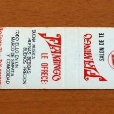 Cajas de Cerillas: SALÓN DE TÉ FLAMINGO, LÉRIDA - CARTERITA DE CERILLAS - GENERAL FOSFORERA . Lote 152885786