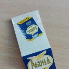 Cajas de Cerillas: CAJA CERILLAS VACIA - AGUILA EXTRA - TABACO AVE. Lote 153606778
