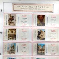 Cajas de Cerillas: CAJAS DE CERILLAS FESA FOSFORERA ESPAÑOLA EL CAMINO DE SANTIAGO. Lote 153931266