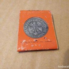 Cajas de Cerillas: CARTERITA CAJA DE CERILLAS SERIE MONEDAS ALEMANIA CON BASTANTE USO. Lote 154279998